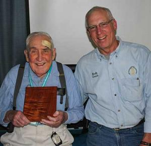 Roy Noyes (left) and Bob Couch (outgoing President)